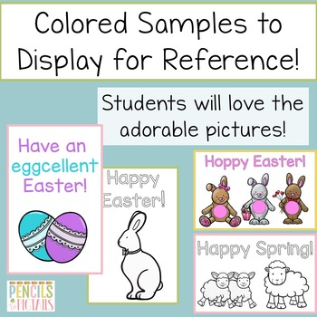 Easter Writing Practice - Cards, Letters, & Postcards-Perfect for Writing Center