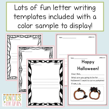 Halloween Writing Practice-Cards, Letters, & More-Perfect for Writing Center