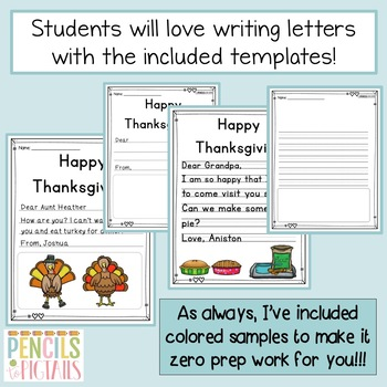 Thanksgiving Writing Practice-Cards, Letters, & More-Perfect for Writing Center