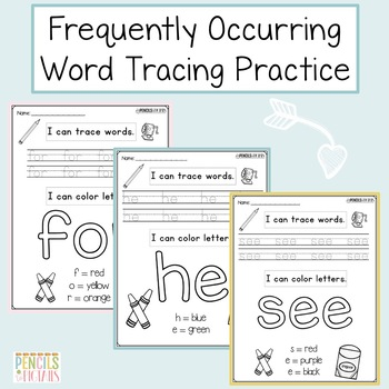 Tracing Practice - Letter Formation, High-Frequency Words, Color Words & More!