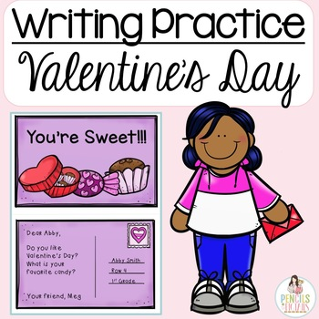 Valentine's Day Writing Practice; Cards, Postcards, & More- Writing Center