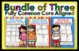 Summer Review 1st, 2nd, 3rd Grade Common Core: Mega Bundle