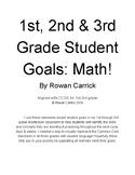1st 2nd & 3rd Student Math Goals
