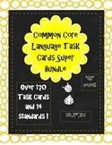 elementary grammar & language ela QR task cards year bundle!