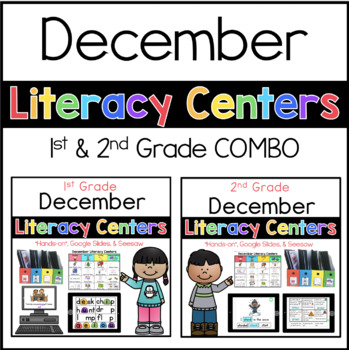 1st 2nd Bundle December Literacy Centers