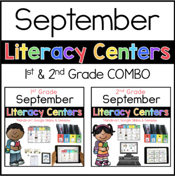 1st 2nd COMBO September Literacy Centers