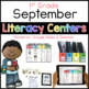 1st and 2nd September Literacy Centers