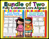 1st & 2nd Grade Summer Review Bundle Common Core Reading Writing Math & More}