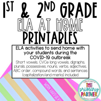 FREE 1st & 2nd Grade ELA at Home to use during COVID-19 outbreak
