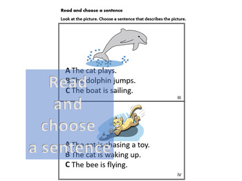ELPAC 1st & 2nd Grade Read and Choose Words & Sentences