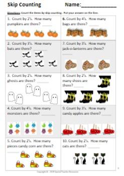 1st & 2nd Grade Fall Math Packet Vol.2