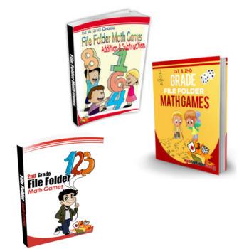 1st & 2nd Grade File Folder Math Games BUNDLE