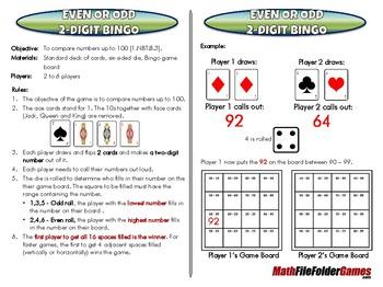 1st & 2nd Grade File Folder Math Games [Book 1]