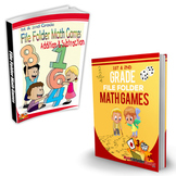 1st & 2nd Grade File Folder Math Games [Book 1 & Book 2] Bundle