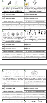 1st-2nd Grade Fractions with Word Problems (w/ pictures)