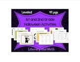 1st-2nd Grade Halloween Math & Reading: Word Families, Add