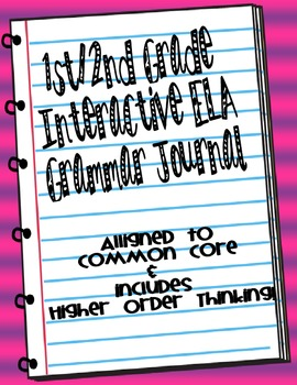 1st / 2nd Grade Interactive Grammar ELA Language Arts Journal
