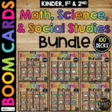 1st & 2nd Grade MATH SCIENCE SOCIAL STUDIES Boom Cards™ BUNDLE Distance Learning
