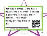 1st & 2nd Grade Math Workstation Cards: QR Ready