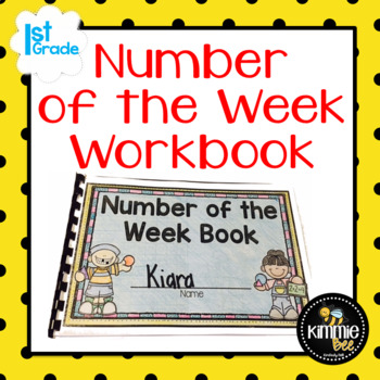 K 1st 2nd Grade Editable Number of the Week Book