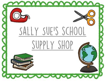 1st/2nd Grade: Sally Sue's School Supply Store Interactive
