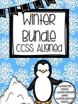 1st & 2nd Winter Bundle: Reading & Math {3 Pack all CCSS Aligned}