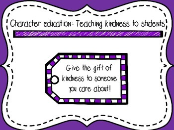 1st, 2nd, and 3rd Grade Character Education Lessons on Kindness