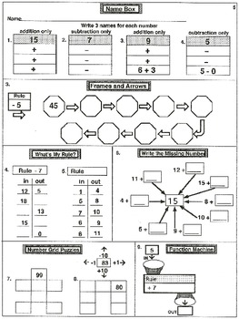 3rd Grade Addition, Subtraction, and Number Grids (32 worksheets)
