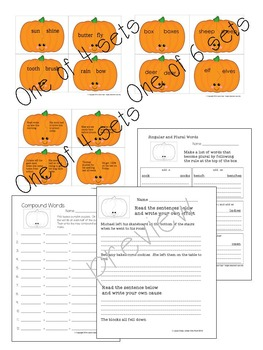 1st - 3rd Language Arts Pumpkin Matching Games