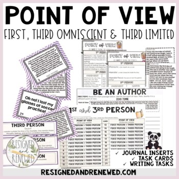 1st & 3rd Person Point of View Reading Tools