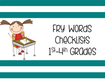 1st-4th Grade Fry Words Checklists