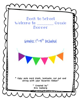 1st-5th welcome banner