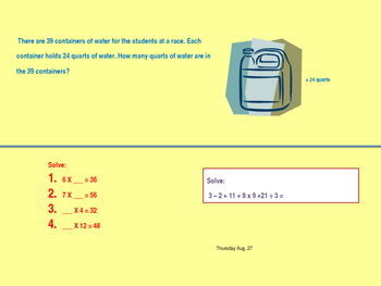 5th grade TEXAS math TEKS, review and spiral 1st 6 weeks
