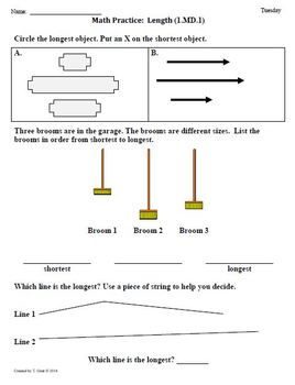 (1st 9 Weeks) 1st Grade Common Core Math Worksheets [BUNDLED]
