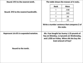 5th Grade Math Review/Assessment - 1st Quarter - STAAR/TEKS Aligned