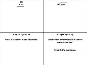 5th Grade Math Review/Assessment - 1st Quarter - STAAR/TEK