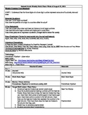 (1st 9 Weeks) Lesson Plans for 2nd Grade Math Common Core