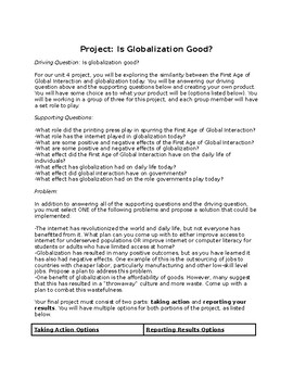1st Age of Global Interaction Project