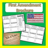 1st Amendment - Bill of Rights Brochure- Civics & Government- Editable