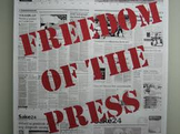 1st Amendment- Freedom of the Press