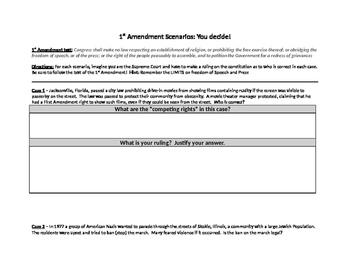 1st Amendment Scenarios - You Decide!