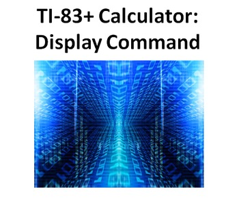 "1st Calculator Programming Lesson - ""Display"" Command"