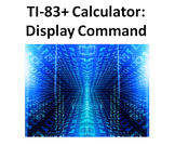 """1st Calculator Programming Lesson - """"Display"""" Command"""