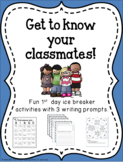 1st Day Activities - BINGO, Cootie Catcher and Writing Prompts