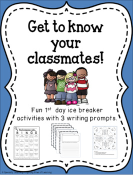 1st Day Activities - BINGO, Cootie Catcher and Writing Prompts