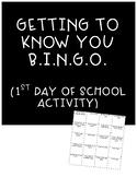1st Day BINGO