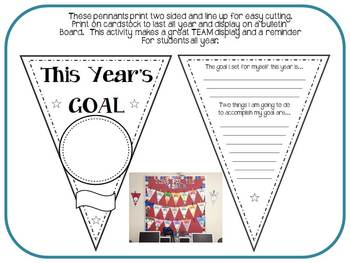 1st Day Goals- Sports Theme Pennant
