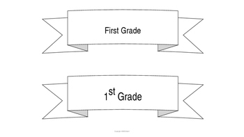 1st Day Sign Grade Banners - FREE