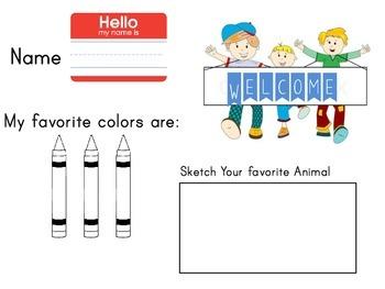 1st Day kindergarten