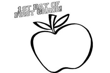 1st Day of 1st Grade Portfolio Page